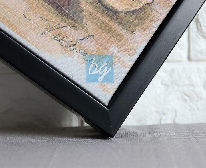 إطار لوحة كانفس خارجي باللون الأسود برواز براويز Floating Frame من باري غاليري براويز صور إطار أسود برواز أسود Diy Sewing Frame Diy