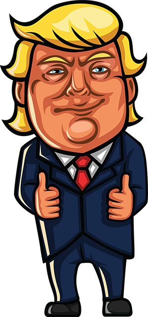 Image of: Clipart President Donald Trump Giving The Thumbs Up trump This Cartoon Is Free To Use With Attribution Turbosquid 18 Free Donald Trump Clipart Cartoons Trump Pinterest Donald