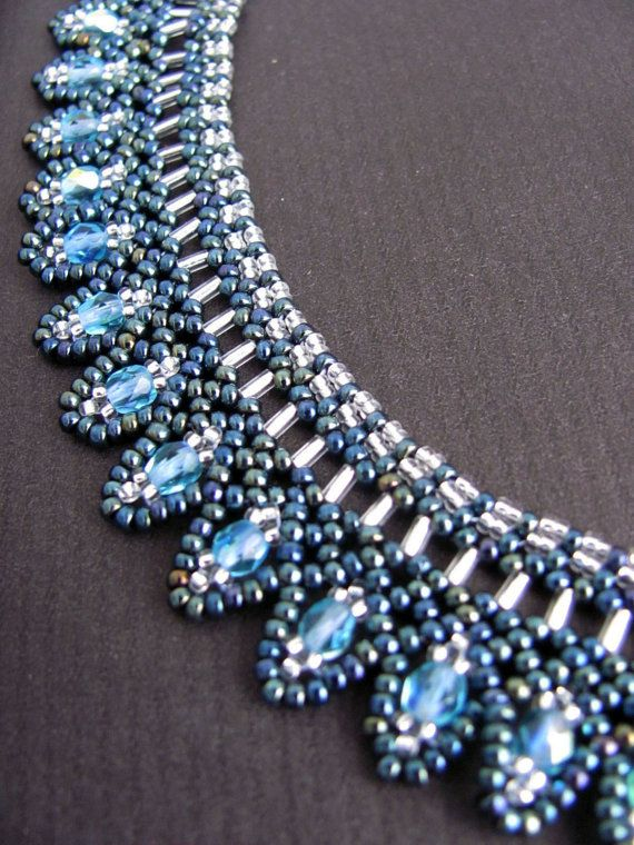 Tutorial for beadwoven necklace 'Laguna'  PDF  by TrinketsBeadwork, €3.00