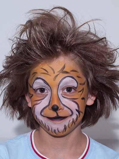 Kinderschminken Lowe Nachher Bild 2 Fasching Halloween