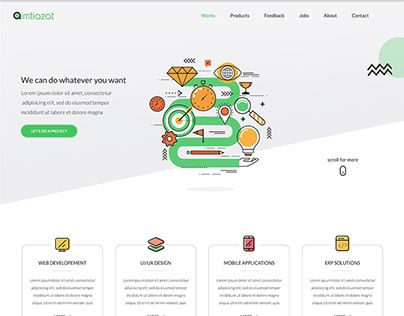 """Check out new work on my @Behance portfolio: """"Aimtiazat - IT Company Website"""" http://be.net/gallery/50932953/Aimtiazat-IT-Company-Website"""
