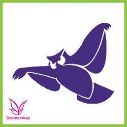 Трафарет сова ― Papillon - товары для боди-арт дизайна и декорирования