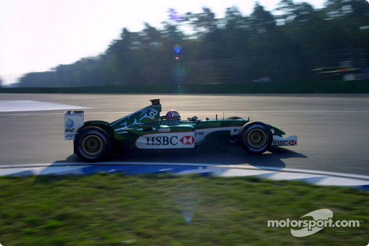 Justin Wilson, Hockenhiem 2003 with Jaguar