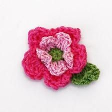 10pcs Handmade Crochet Flower Appliques Sewing Craft Knitting Craft Decoration