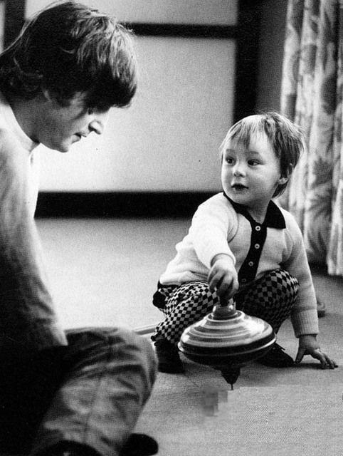 John Lennon & son Julian.