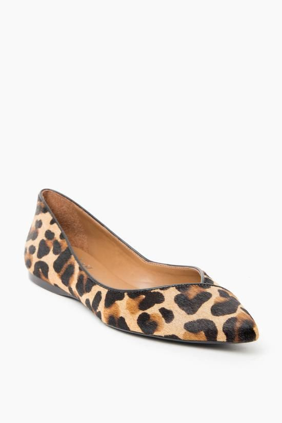 Featuring genuine calf hair in a leopard print and a classic ballet flat  silhouette, these shoes will take you from day to night, desk to drinks, ...