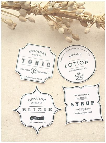 DIY Vintage Apothecary Bottles - Free Label Download
