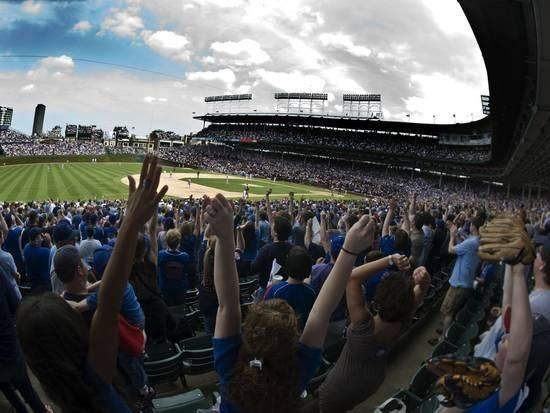 Spectators in a Stadium, Wrigley Field, Chicago, Cook County, Illinois, USA Photographic Print by Panoramic Images at AllPosters.com