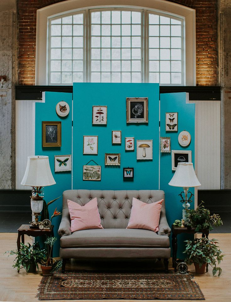 hipster turquoise eclectic frame backdrop // Wes Anderson wedding