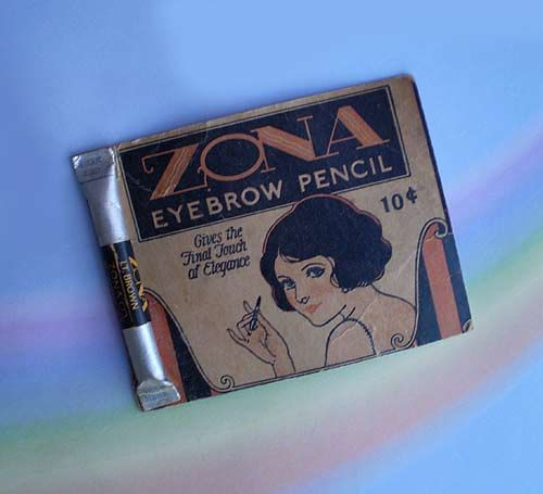 Vintage 30s Zona Eyebrow Pencil Cosmetic on Card.  via Etsy.