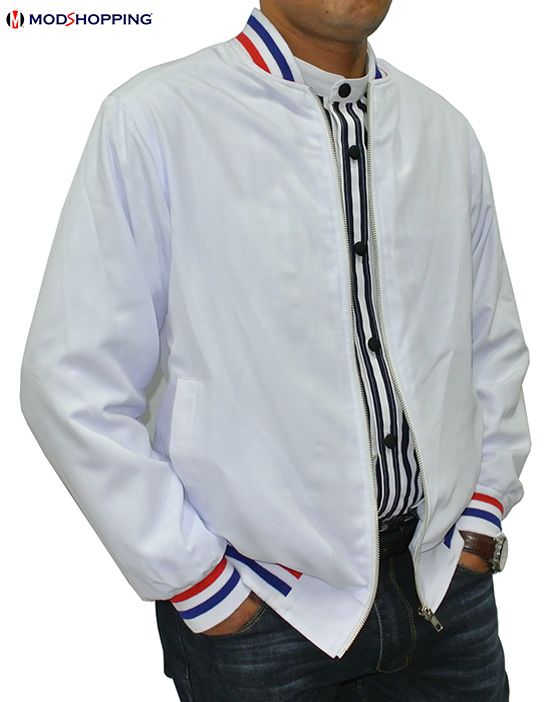 Modshopping - White 60's monkey jacket, £75.00 (http://www.modshopping.com/white-60s-monkey-jacket/)