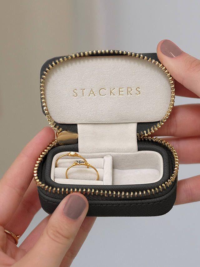 Buystackers Petite Travel Jewellery Box Black Online At Johnlewis