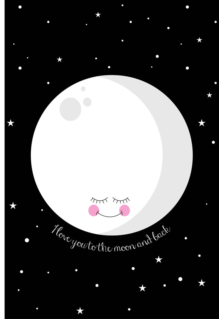 I love you to the moon and back print. Lepetitbiscuit.nl