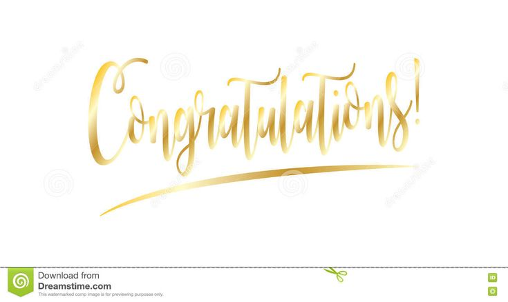 Congratulations stock vector. Image of congratulate, admiration - 80749237