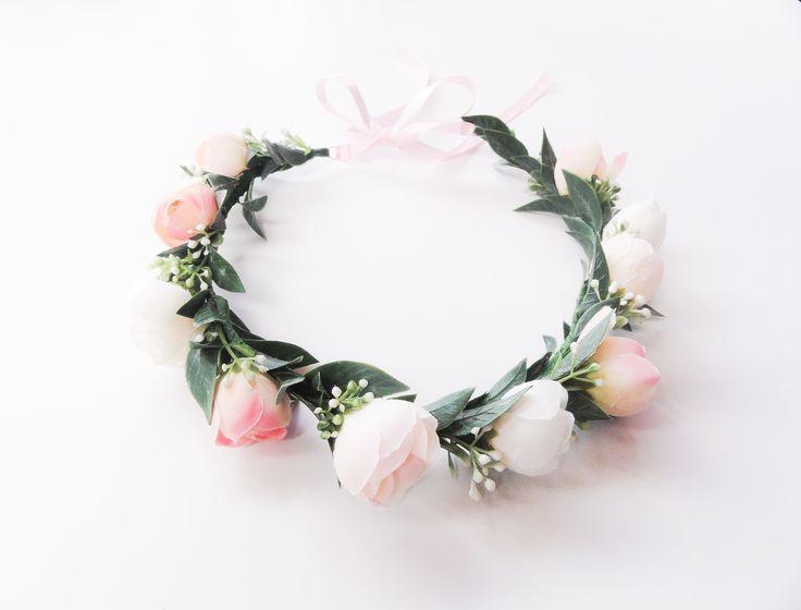 Kary M Designs flower girl flower crown | Hannah Minkley Photography