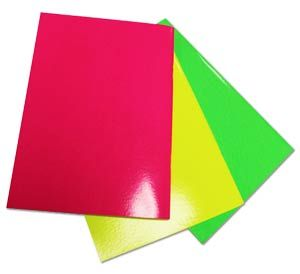 Stapled Softback Neon Coloured Laminated Sketchbooks A4