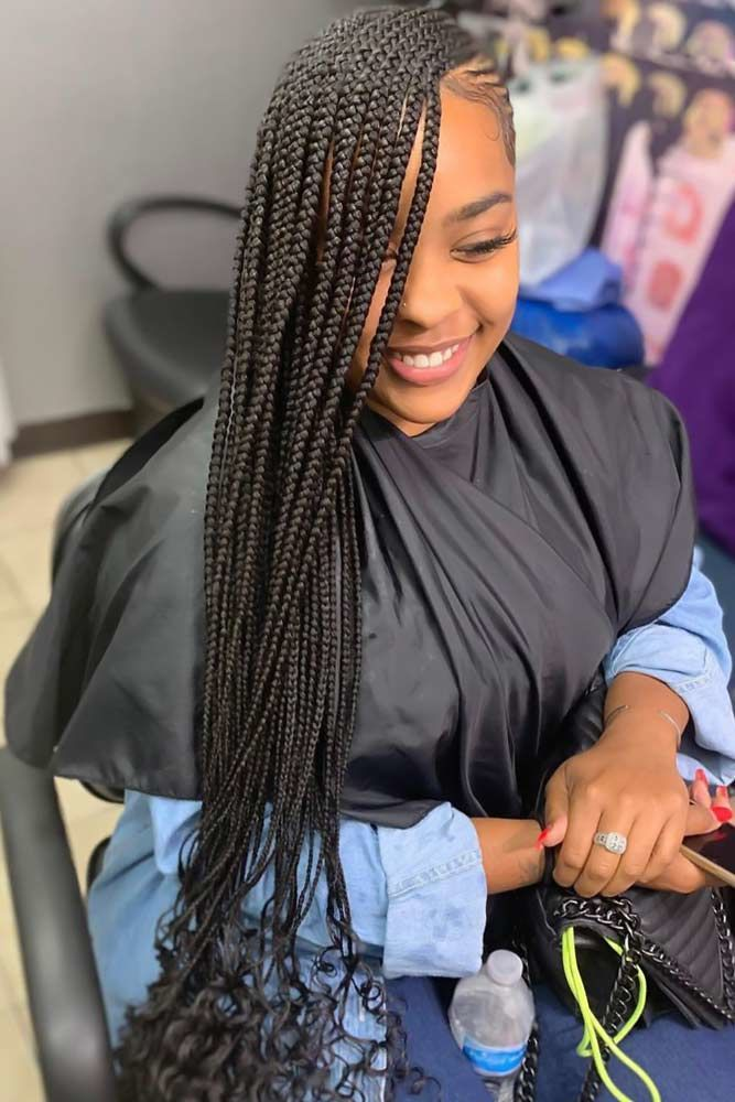 Lemonade Braids That Make Your Hair Style Even Sweeter In 2020 Braids With Curls Feed In Braids Ponytail Feed In Ponytail