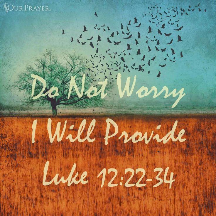 """Luke 12:22-34"" God always provides.  From 'Our Prayer' on Facebook.  (Christian Goth)"