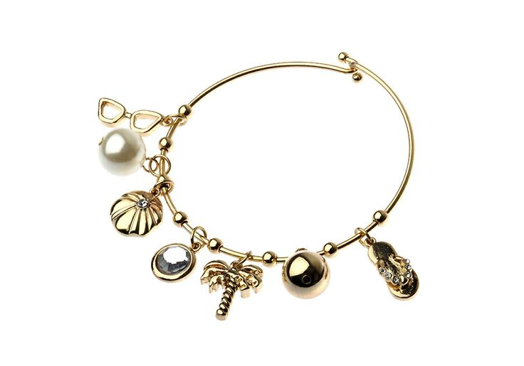 AlibiOnline - CBM837- Bracelet With Multi Palm Tree Charms by MAJIQUE, $29.95 (http://www.alibionline.com.au/cbm837-bracelet-with-multi-palm-tree-charms-by-majique/)