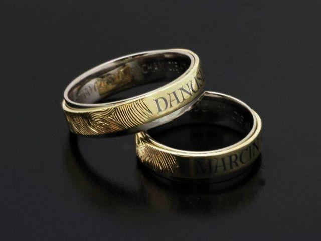 A little bit oldschool. gold with palladium niello and fingerprint #RingsbyBielak
