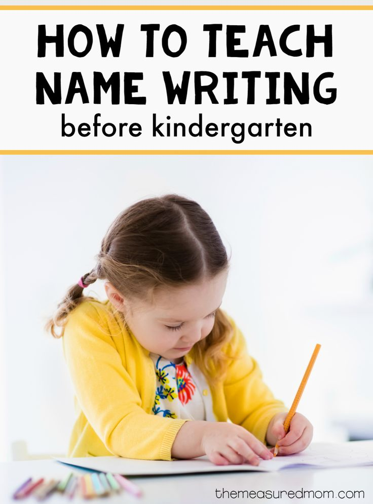 Great tips for helping kids learn to write their names before they start kindergarten