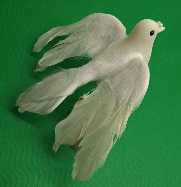 Fliegende Taube *  Hochzeitstaube * Weiße Taube * 12 cm