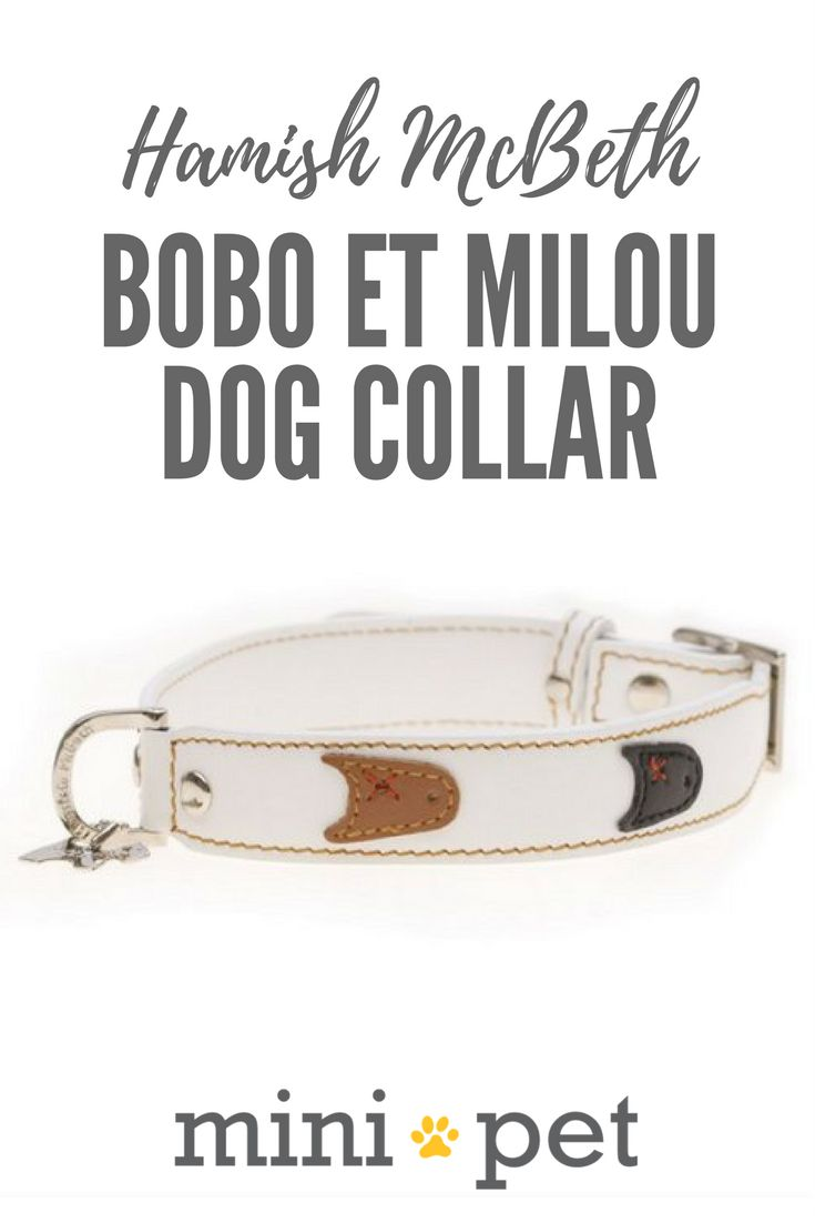We love the Bobo et Milou dog collar! It features cute little dog characters on a stylish white leather dog collar. The little black and brown dog faces are adorable! Our Bobo et Milou dog collar is made from luxury top grain leather with a buttery smooth texture.