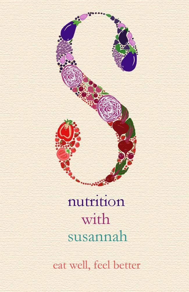 Nutritionist, colourful business card Logos de nutricion