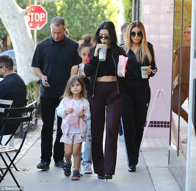 Lady date! Kourtney Kardashian, 38, and Larsa Pippen, 43, kept their best friends status going strong during a casual lunch date with their children in Los Angeles on Saturday afternoon