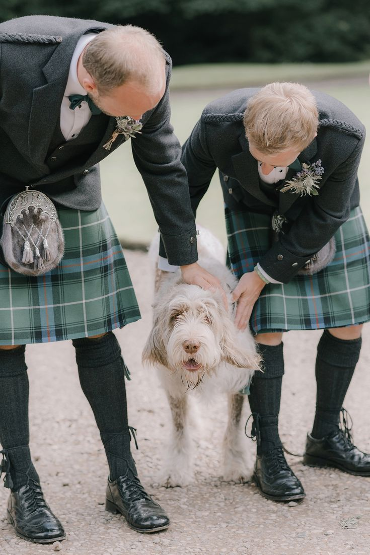 The couple included their pet in their outdoor ceremony. Photography by Georgina Harrison