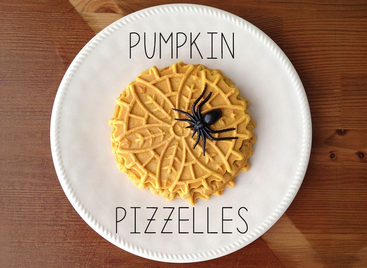 Pumpkin Pizzelle Cookies for Halloween