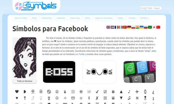 En la página de fsymbols podemos encontrar símbolos para Facebook, emojis, emoticones, crear llamativos textos y mucho más. ¡Es Gratis!