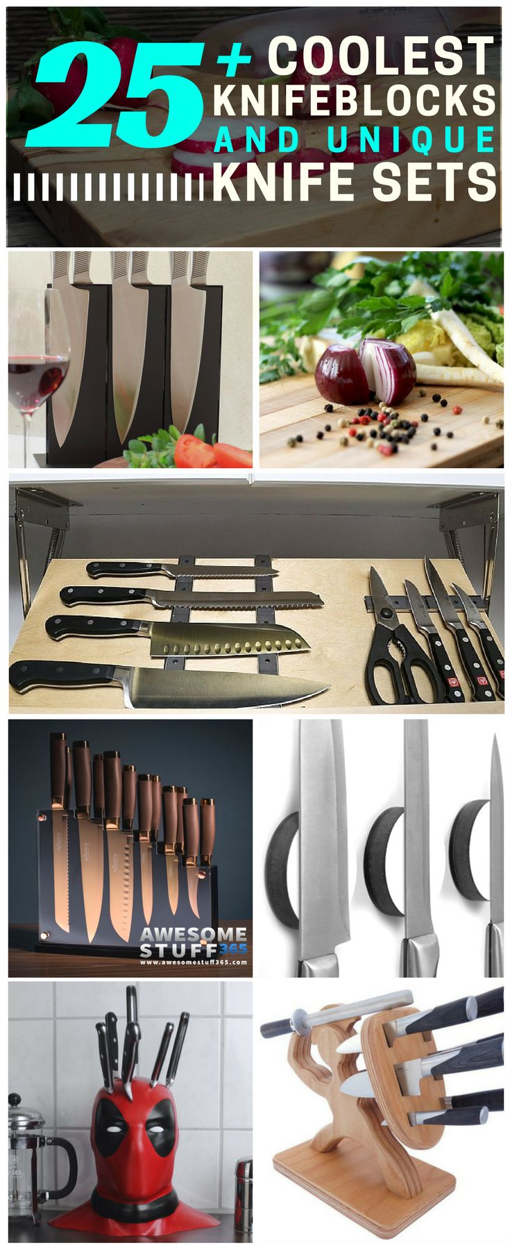 Add a little spice to your kitchen with the coolest knife blocks and unique knife sets on the market! Check these out ⬆⬆⬆