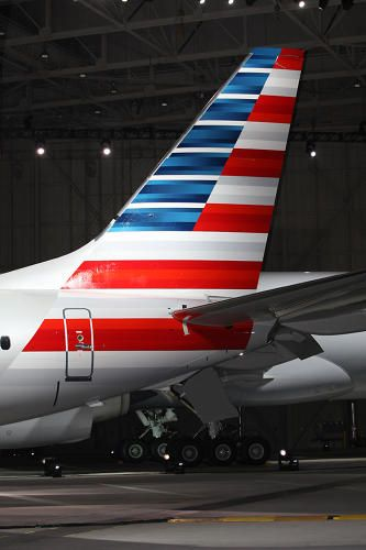 American Airlines new livery tail (I positively hate this tailfin)