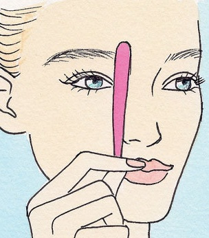 How to get the PERFECT brow shape when plucking! Thanks Women's Health!