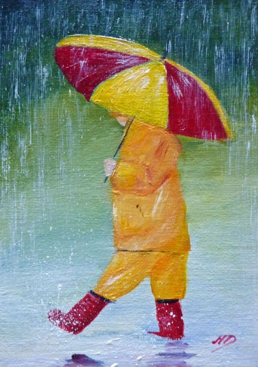 Buy Splashing In The Puddles, Acrylic painting by Margaret Denholm on Artfinder. Discover thousands of other original paintings, prints, sculptures and photography from independent artists.