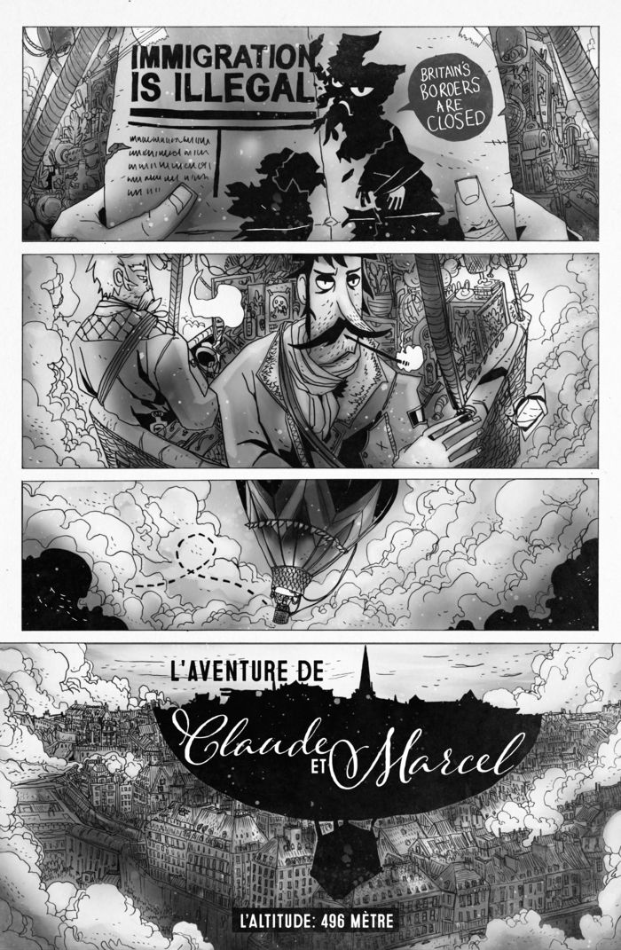 First Page of the Claude & Marcel story from @chamonkee https://www.kickstarter.com/projects/1538713376/the-fitzroy-comic/posts