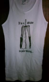 Sedusa Studios I'm a Slave to Pole Dancing ribbed Tank