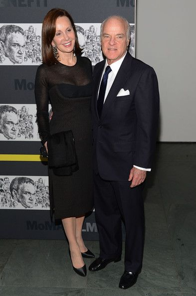 Love how stylish Marie-Josee and her husband Henry Kravis are for their age! #black #sheer #fashion.