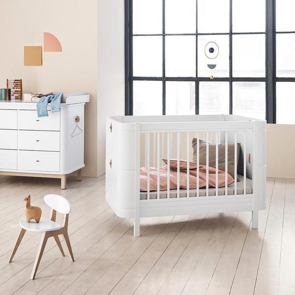 Oliver Furniture  Babybett (und Kinderbett) Wood Mini   Weiss