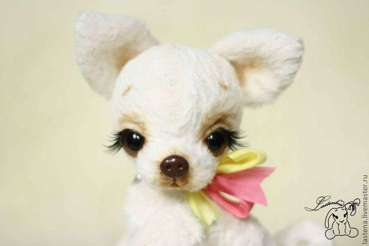 Купить Дульсинея - белый, чихуахуа, чихуа, собачка, собака, щенок, щеночек, авторская ручная работа