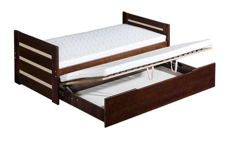 ABC DAVID Säng med utdragbar extrasäng under