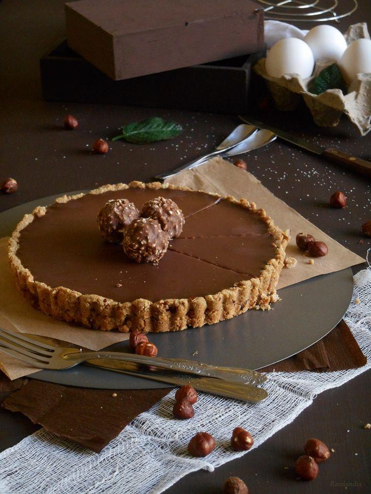 Tartaleta de nutella y galletas maria y ferrero rocher, facil de tener ingredientes