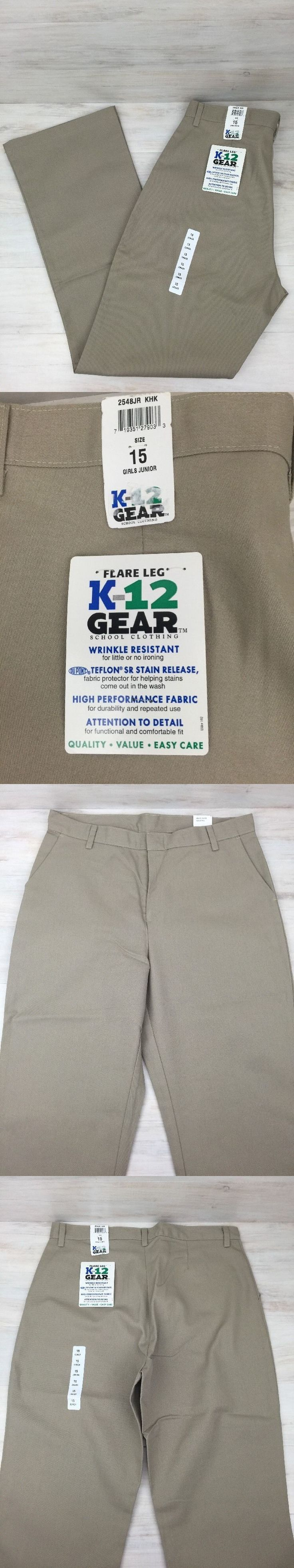 Uniforms 175652: School Uniform Pants Khaki Girl Junior Sz 15 Flare Lot Of 3 K-12 Gear 2548Jr Nwt -> BUY IT NOW ONLY: $44.99 on eBay!
