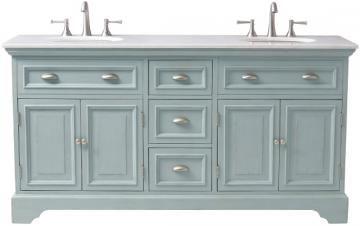 Sadie Double Vanity - Bath Vanities - Bath Vanity - Bathroom Vanity Cabinets   HomeDecorators.com Comes in antique cream!