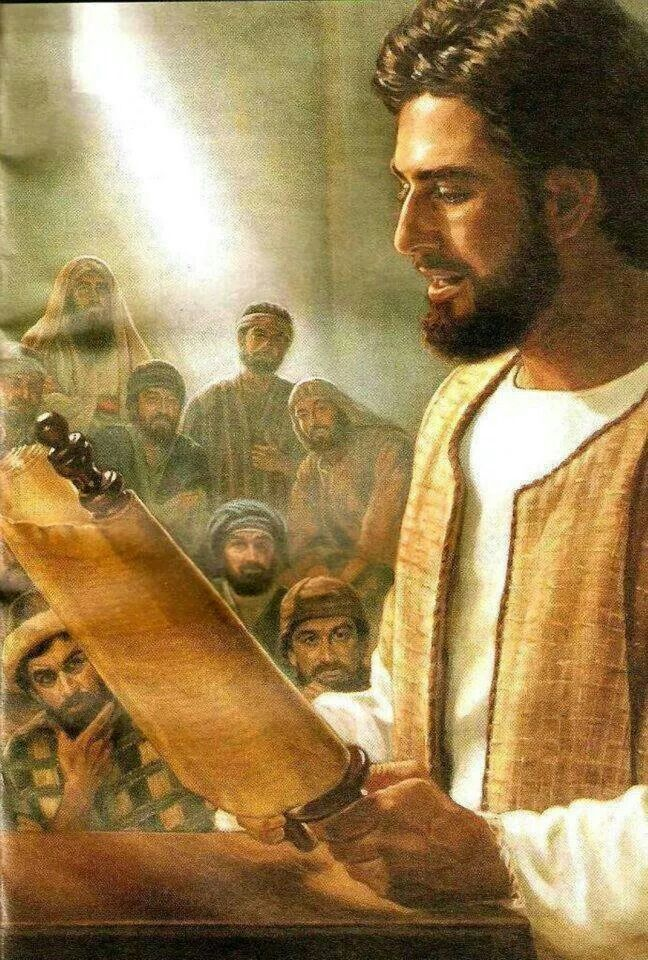 Image result for Jesus reads from a scroll in the temple, art, pictures