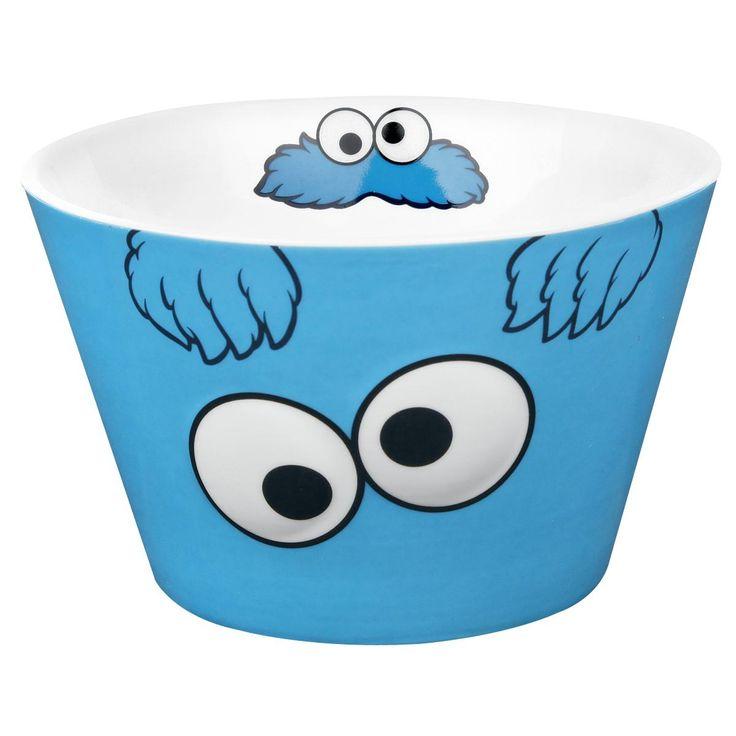 Sesame Steet Cookiemonster Müslischale aus Porzellan. Die Krümelmonster Müslischale ist geeignet für eine Füllmenge von ca. 0,5 L. #cookiemonster #empstyle