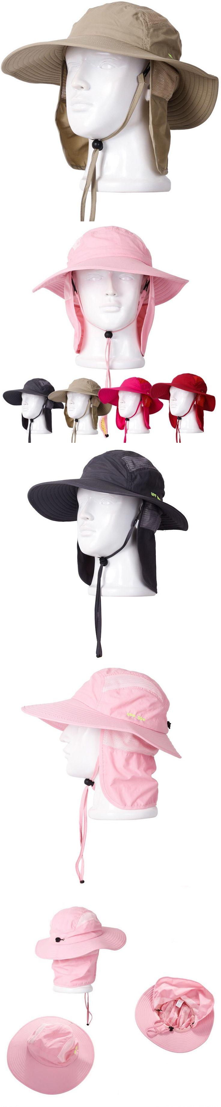 Outdoor Fishing Hiking Farming Quick Dry Sun Shield Hat Cap Men Women Sun Protection Fisherman Bucket Hat With String $15.27
