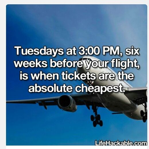 When to buy airline tickets.