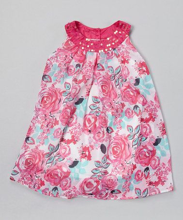 Loving this Fuchsia Floral Swing Dress - Toddler & Girls on #zulily! #zulilyfinds